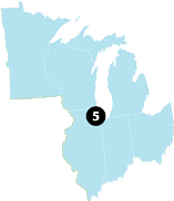 ORO Region 5 map
