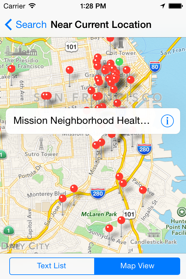 Find a Health Center Search Near Current Location App Map.