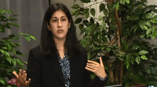 Dr. Rupali Doshi of HRSA's HIV/AIDS Bureau speaking at a recent webcast.