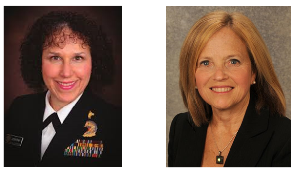 Photographs of HRSA's Dr. Renee Joskow and Anita Glicken of the University of Colorado​.