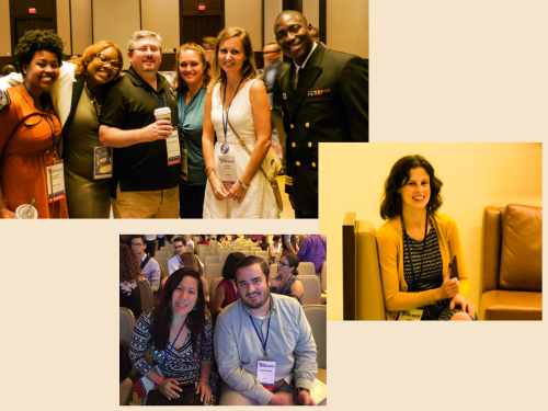 clockwise from upper-left: HAB staffers Tempestt Woodard, Lauresa Washington, Asher Weinberg, Rebeka Fritz, Kristina Barney, Lawrence Momodu and Amy Schachner; Scott Kodish and Frances Nguyen of OA/OC