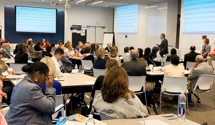 A busy year ahead: BPHC Associate Administrator Jim Macrae briefed association leaders on the agency's plans for the coming year. Senior agency leaders walked the group through strategic plans for bureaus and offices throughout HRSA over two days.