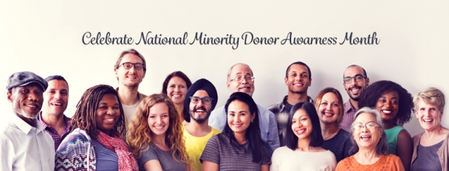 celebrate national minority donor awareness month - photo of a diverse group of people